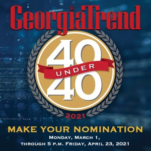 Georgia Trend 2021 40 Under 40 Nomination Button
